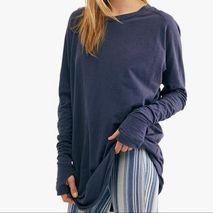 We the free Arden Tee Free people navy Xsmall